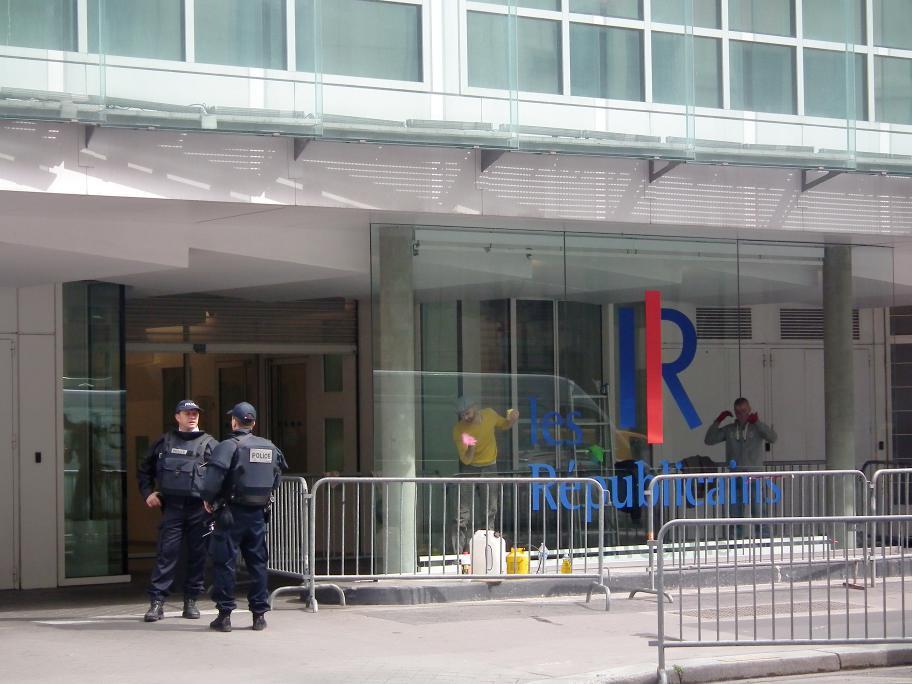 Les républicains, le siège de l'ex UMP Paris 15ème
